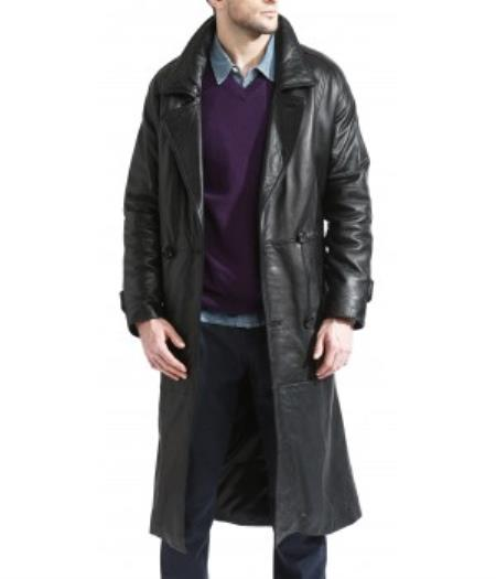 Mens Trench Black Coat