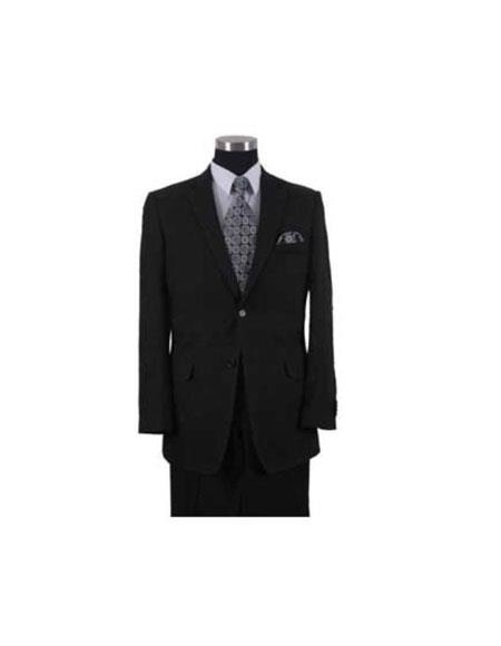 Product# AA555 Black Color Men's 2 Piece Linen Causal Outfits fabric Summer Suit or Blazer Online Sale or Sport coat + Dress Pants 2 or 3 buttons Style / Beach Wedding Attire For Groom