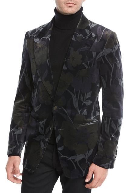 Mens Black Shelton Floral