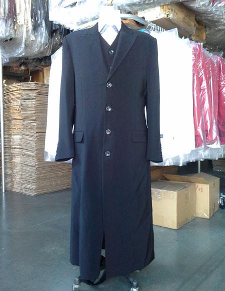 Mens Black Maxi full-length
