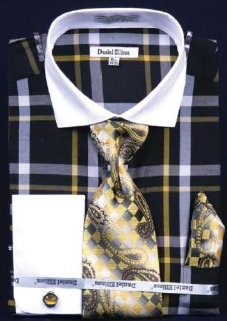 Windowpane Plaid Pattern Dress