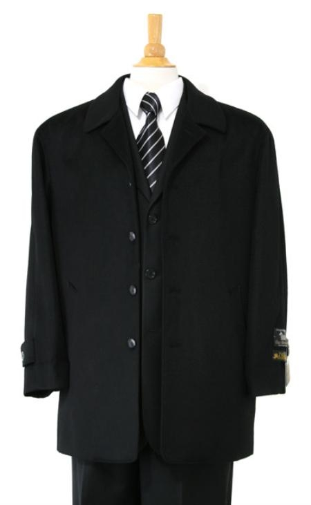 Car coat Luxurious high-quality Woo&Cashmere half-length notch lapel Jet Liquid Jet Black Carcoat