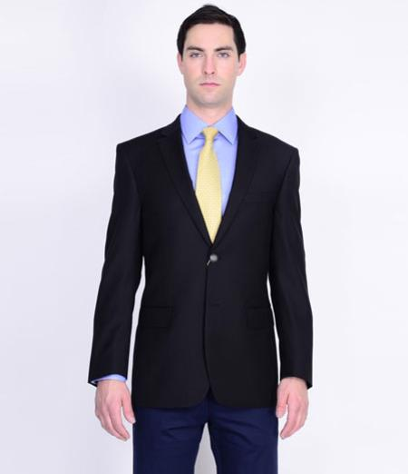 Mantoni Wool Fabric Blazer Online Sale Liquid Jet Black