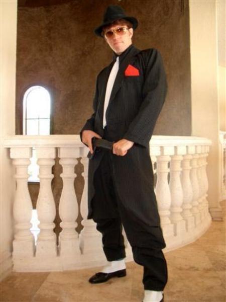 62a08648b394 Product# AMD895 Liquid Jet Liquid Jet Black Fashion Long Long length Zoot  Suit For sale