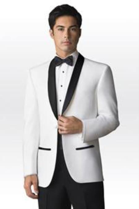 DownTown Shawl Jacket Black/white