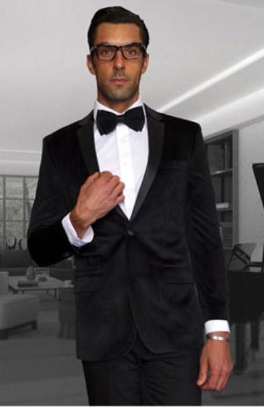 Men's Discounted Blazer Sportcoat Velvet Fabric Black Jacket on Sale