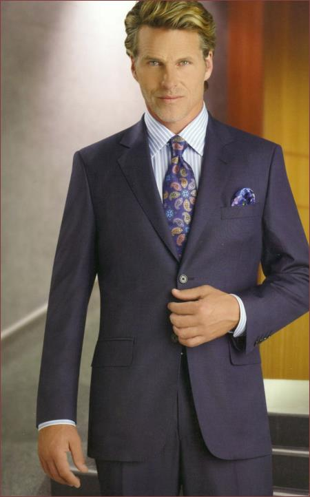 Product# PN_S70 Authentic Real Brand New With Tags Mantoni Suit 2 Pleat Blue