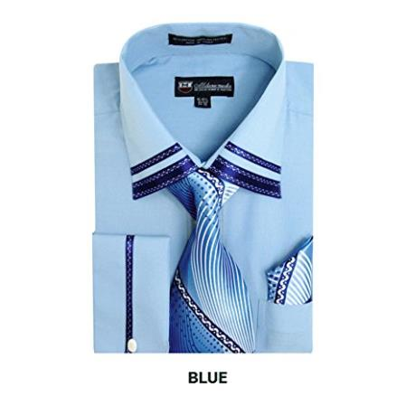 Mens Blue Two Toned
