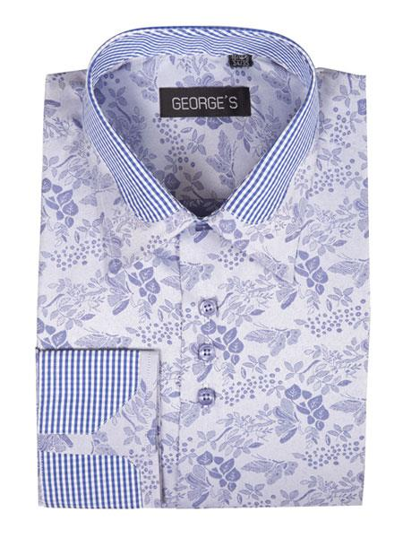 Mens Floral Pattern Cotton