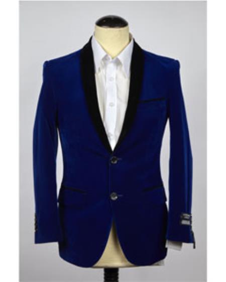 Velvet Blazer Online Sale Jacket Royal