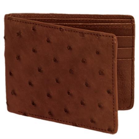 Product# KA0320 Carteras Avestruz Wallet – Café