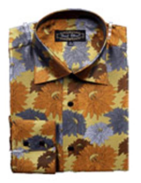 Fancy Shirts brown color