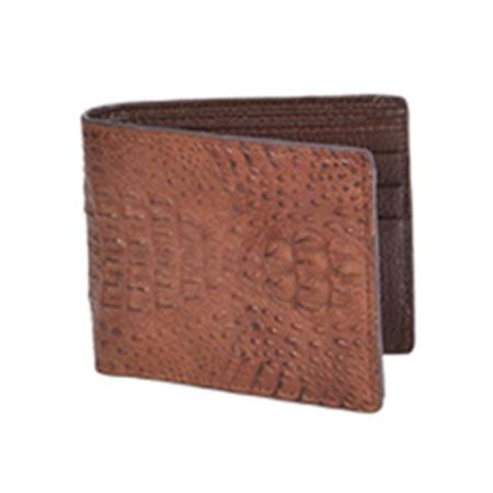 Product# KA7802 Wild West Boots Wallet-brown color shade Genuine Exotic cai ~ Alligator skin
