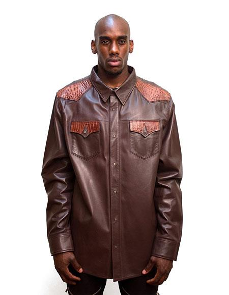 G-Gator Mens Brown Button