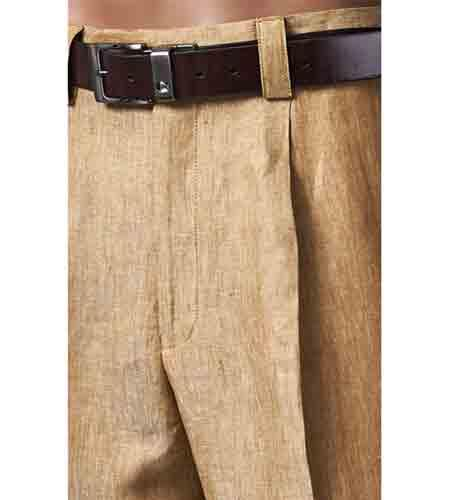 Product# SM842 Pleated Slacks Summer brown color shade 100% Linen Pant
