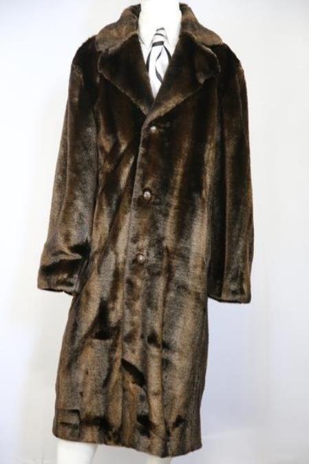 Mens Faux Bear Pelt