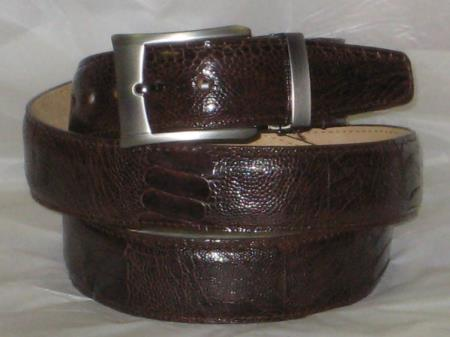 Product# AC-862 Genuine Authentic brown color shade Ostrich Leg Belt