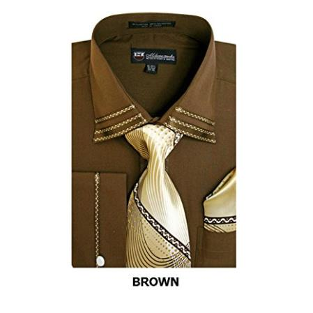 Mens Brown Fashion Shirt