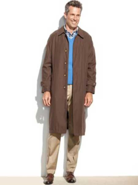 Rain Coat brown color