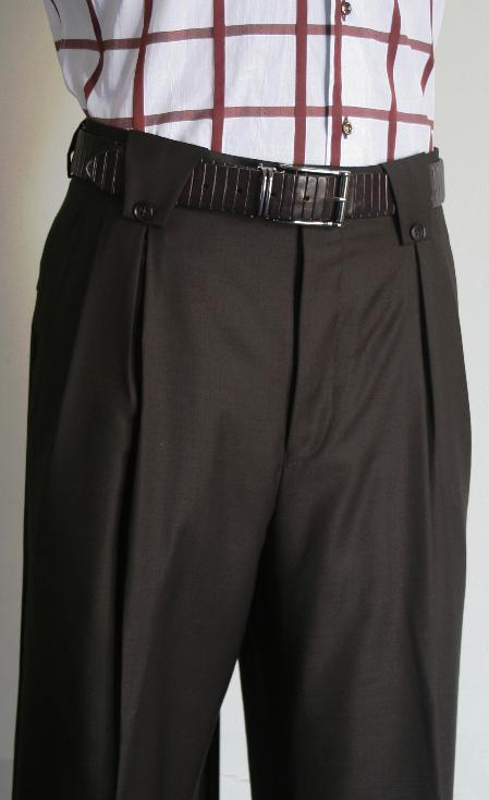 Product# DBN1368 Wide Leg Pants 1920s 40s Fashion Clothing Look ! Brown