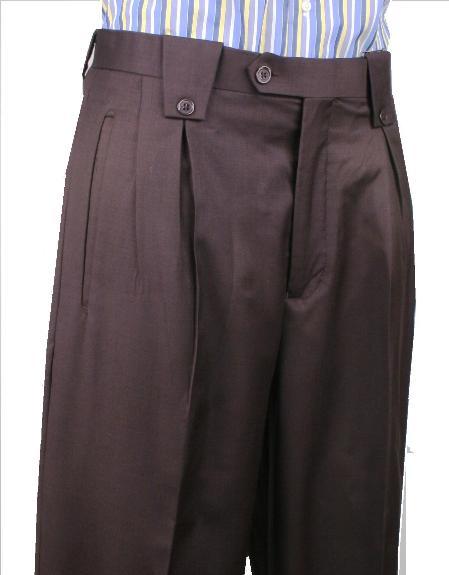 Leonardo Valenti Wide Leg Pant Brown 1920s 40s Fashion Clothing Look !