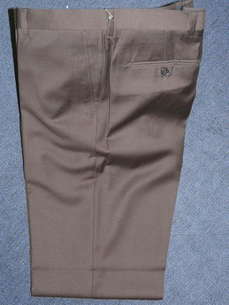 Product# KA12401 brown color shade 100% Wool Fabric , Superior Fabric 140'S Solid ~ plain FRONT PANTS