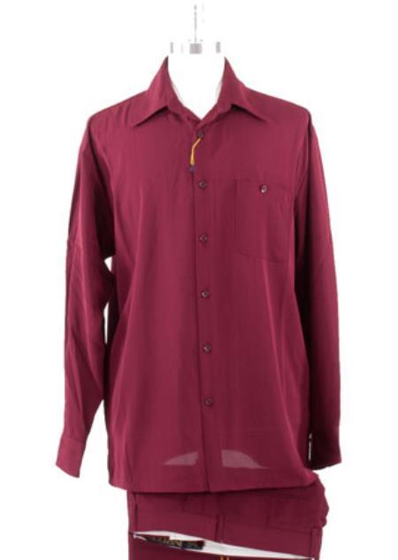 Spread Collar Burgundy trendy