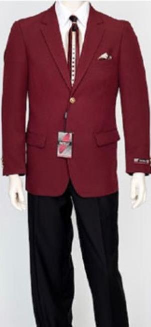 Men's Pacelli Classic Burgundy Blazer Jacket Blair
