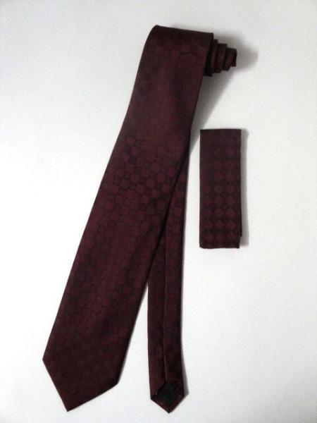 Neck Tie Set Burgundy