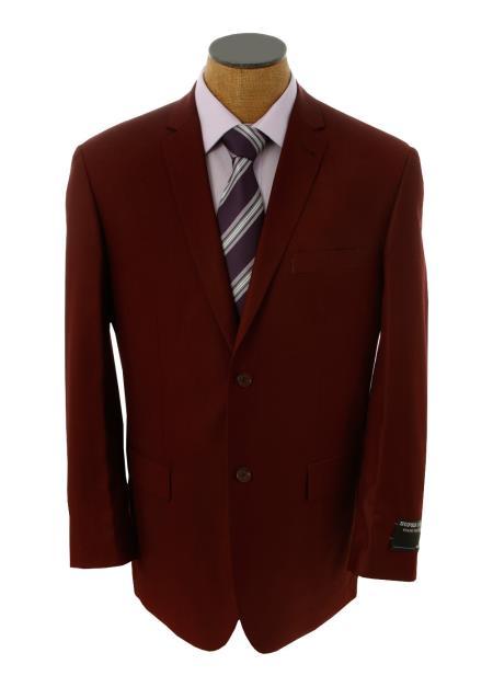 Product# GGX39 Solid Burgundy ~ Maroon ~ Wine Color Blazer Online Sale