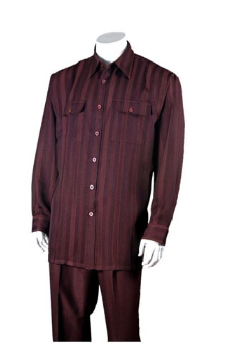 Mens 100% Polyester Striped