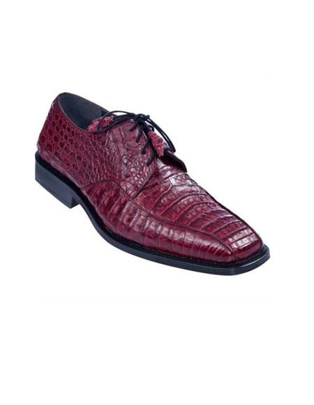 Product# KA4632 Gator Skin Dress Shoe – Burgundy ~ Maroon ~ Wine Color