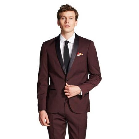 formal tux Jacket Burgundy Tuxedo