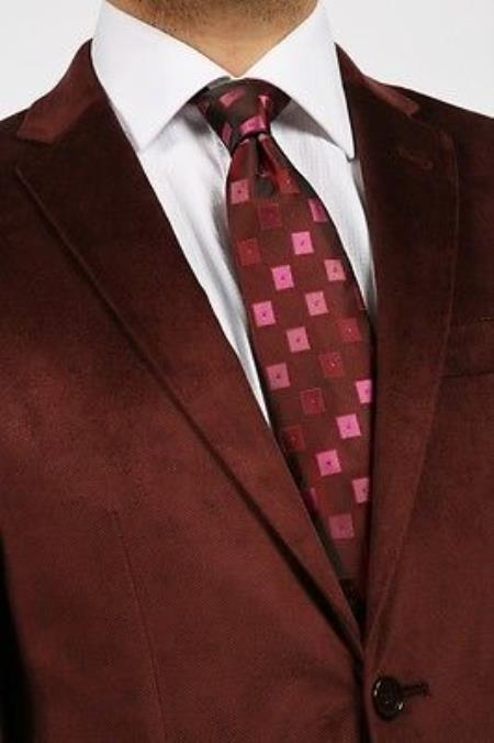 Product# PNS51 Mantoni Velvet Blazer Online Sale Sport Jacket For Burgundy