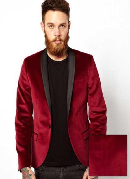 Dinner Jacket Tuxedo Burgundy