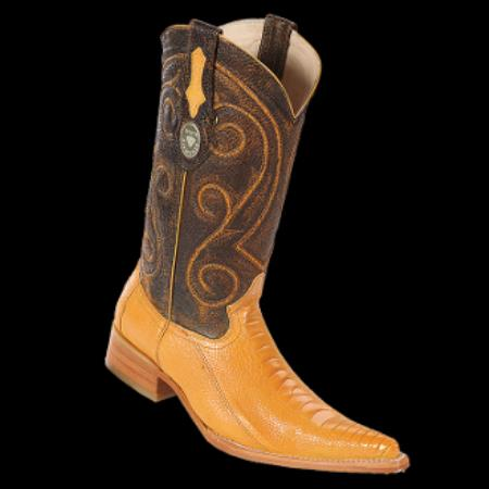 Product# KA8071 New Reg: $795 discounted Online Sale clearance diamonds Boots- Ostrich Leg Buttercup 3x-Toe Cowboy Boots
