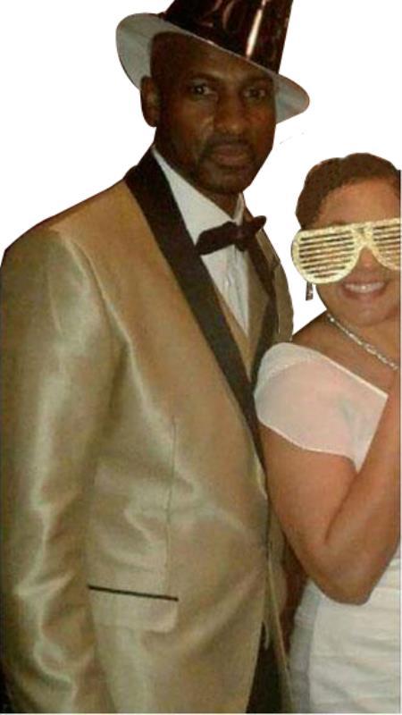 men's Gold Single Breasted Shawl Lapel Tuxedo