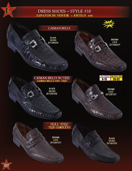 Product# BMA8102 Genuine cai ~ Alligator skin Belly/Teju Lizard Slip On ~ Loafer Dress Shoes for Online Liquid Jet Black & brown color shade