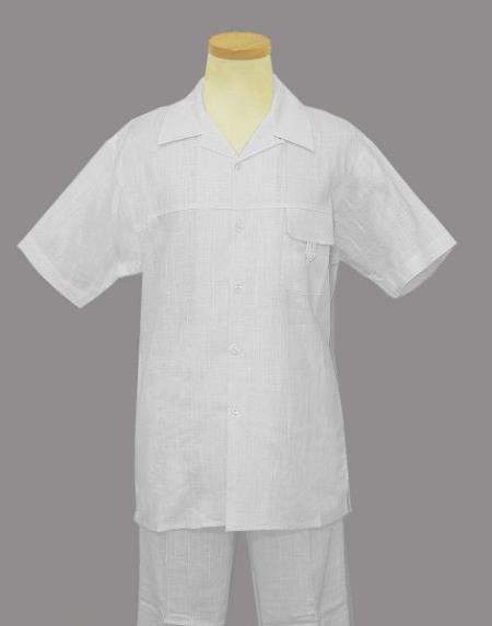 Product Rm1433 Men S 2 Piece Linen Causal Outfits Cotton