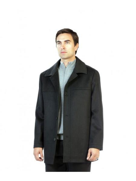 Mens Charcoal Pea Coat