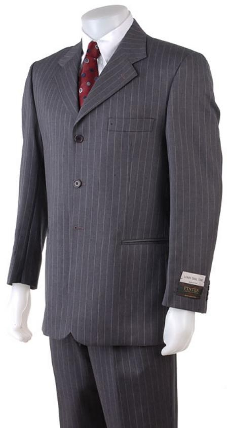 2/3/4 Button Style Dark Grey Masculine color Gray Pinstripe Light Weight On Online Sale