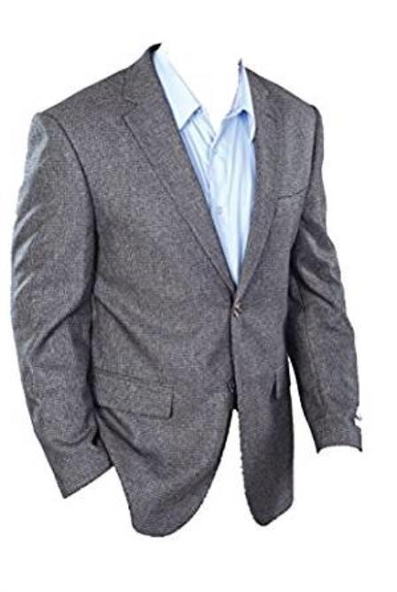 Men's Classic Fit Charcoal Grey Sport Jacket