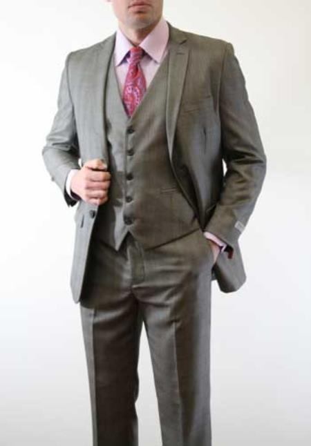 Mens Charcoal Grey Suit