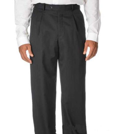 Pleated Slacks Dress Pants