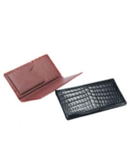 Product# AC-154 Crocodile Checkbook Black,Cognac,Chocolate
