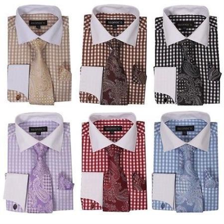 Checker Dress Shirt French