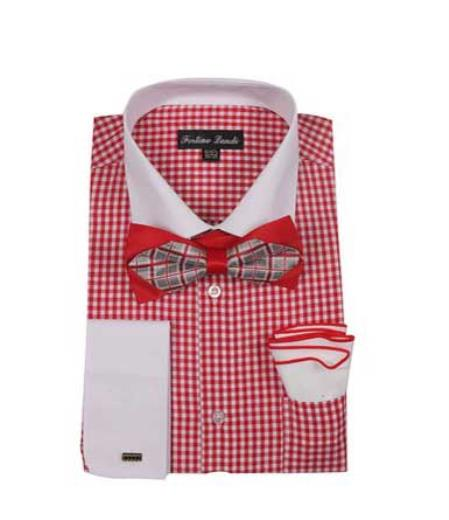Checks Shirt red color