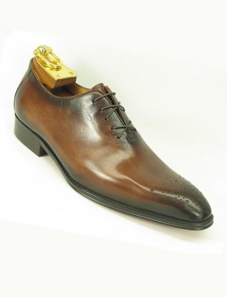 Mens Leather Ombre Chestnut