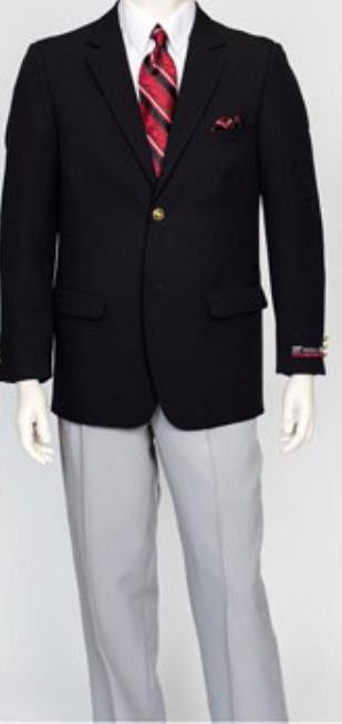Men's 2 Button Pacelli Classic Black Jacket Blair