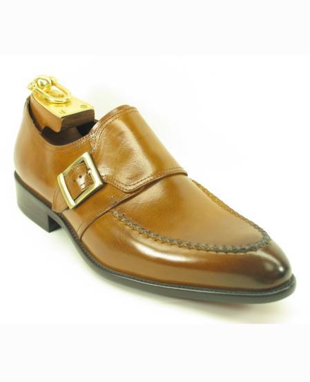 Mens Fashionable Carrucci Leather